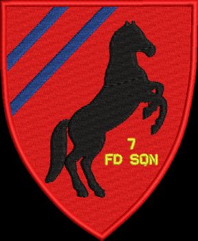 7 Fd Sqn Embroidered Badge
